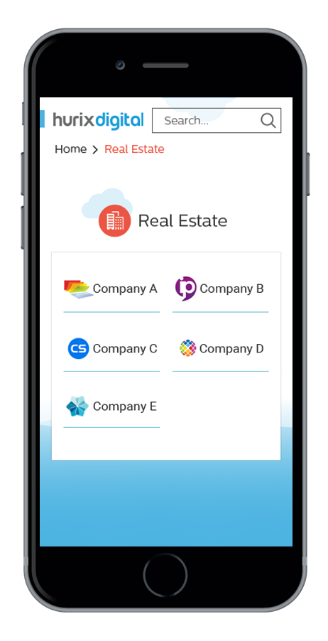 Screenshots showing the look and feel of Sales Genie app.