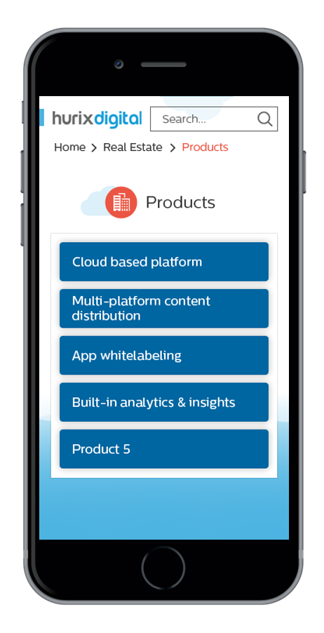 Screenshots of Sales Genie app listing products