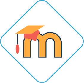 Letter M representing Moodle LMS