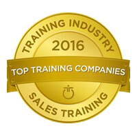 Training Industry award for sales training, 2016