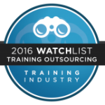 The Leading Training Outsourcing Company award by Training Industry Inc.'s for 2016.