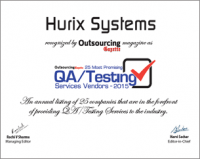 Hurix Among 25 Most Promising QA/Testing Services Vendors 2015 by Outsourcing Gazette