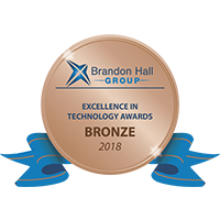 Excellence in Technology Awards - Bronze by the Brandon Hall Group, 2018
