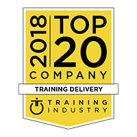 Top 20 company in Training Delivery by the Training Industry, 2018