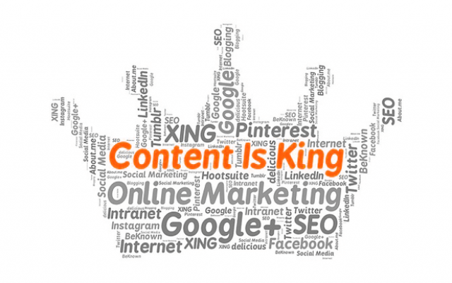 content is king | Outsourced Content Development vs In-house Content Development 1