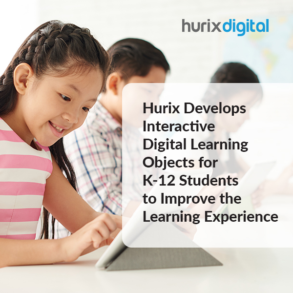 Hurix Develops Interactive Digital Learning Objects for K12 Students to Improve the Learning Experience